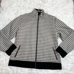 Chico's Travelers Sparkle Houndstooth Jacket
